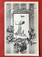 1914 - DAME SPEELT MET MANNEN - DIABOLO - FEMME JOUE AVEC LES HOMMES - Nouvel An