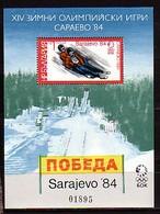 BULGARIA / BULGARIE / BULGARIEN - 1983 - Ol.W.G's Saraevo'1984 - SS - MNH - Blocks & Sheetlets