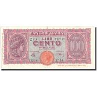 Billet, Italie, 100 Lire, 1944, 1944-12-10, KM:75a, TTB - [ 1] …-1946 : Royaume