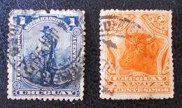 EMISSIONS 1897 - OBLITERES - YT 120 + 123 - MI 117 + 120 - Uruguay