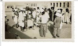 MAURITANIE-PHOTOGRAPHIE ORIGINALE,Manifestations,Colons Ou Familles De Militaires,Maures,Fort à Identifier,VOIR SCANS - Mauritania