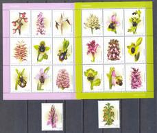 Año 2003 Nº 2636/55 Flores. Orquideas - Hojas Bloque