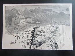 Postkarte Südtirol Gasthof Kreuzwirth Völs Am Schlern 1898 - Eckbug - Bolzano (Bozen)