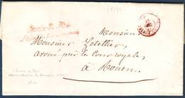 Lettre En Franchise Avec Son Texte Date Du PALAIS ROYAL , SERVICE DU ROI L'ADMion Du DOMAINE PRIVE 1844 - Marcophilie (Lettres)