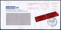 8522 HERZOGENAURACH/ DIE MARKE MIT DEN/ 3 RIEMEN/ Adidas 1975 (14.7.) AFS 250 Pf. (Logo) Auf Motivgl. Firmen-Eil-Bf. = H - Soccer