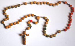 AR 96 - ANTICO ROSARIO CON GRANI DI LEGNO - Religione & Esoterismo