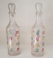 VENDO N.2 BOTTIGLIE IN VETRO DECORATE - Otras Botellas