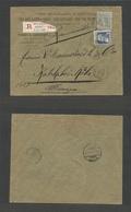 Belgium - XX. 1905 (23 Dec) MIXED ISSUES. Haire St. Pierre - Germany, Koln (24 Dec). Registered Fkd Env 75c Rate With Di - Non Classés