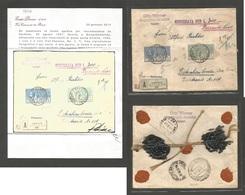Italy - XX. 1927 (30 Aug) Gardone Riviera - Germany, Kotznhenbroda, Dresden. Via Switzerland Chiasso (31 Ago). Registere - Italy