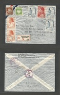 SURINAME. 1940 (24 Feb) Paramaribo - USA, Pha (17 March) Registered Air Multifkd Env. VF. - Surinam