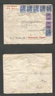 DUTCH INDIES. 1950 (13 April) Djakartakota - USA, CA, LA. Air Multifkd Envelope. - Indonesia