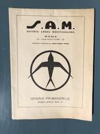 Carte De La S.A.M - Tarifs Des Vols - Europe