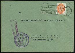AACHEN/ *1v/ Vermeidet/ RUNDFUNK=/ STÖRUNGEN 1932 (13.6.) MWSt Auf EF 12 Pf. Dienst + Viol. 2K-HdN: Technische Hochschul - Stamps