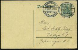 BERLIN/ UNIVERSITÄTS-/ JUBILÄUM/ FESTKOMMERS 1910 (12.10.) Seltener SSt Auf Inl.-P 5 Pf. Germania (schwache Bugspuren) G - Stamps