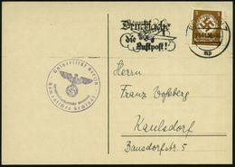 Berlin NW 7 1936 (16.11.) 3 Pf. Behördendienst + Viol. 1K-HdN: Universität Berlin/..Romanisches Seminar , Klar Gest. Die - Stamps