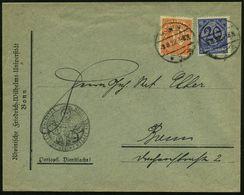 Bonn 1922 (3.8.) 20 Pf. U. 30 Pf. Dienst Auf Illustriertertem Dienst-Bf.: Rhein. Friedrich-Wilhelms-Universität = Friedr - Stamps