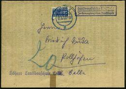 CELLE 2/ C 1949 (12.5.) 2K-Steg Auf EF 2 Pf. NoB + Viol. Ra.2: Gebührenpflichtige Dienstsache/Jn Ermangelung Eines Diens - Stamps