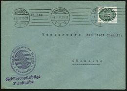 CHEMNITZ/ *4a 1931 (4.3.) BdmaSt Auf EF 8 Pf. Dienst + Viol. HdN: Staatl. Akademie Für Technik = Sächs. Wappen (schwache - Stamps