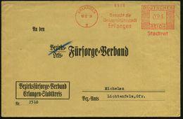 ERLANGEN/ 2/ Besucht Die/ Universitätsstadt/ Erlangen/ Stadtrat 1938 (10.12.) AFS Klar Auf Kommunal-Bf.: BEZIRKS-Fürsorg - Stamps