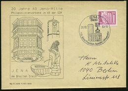 6900 JENA/ 425 Jahre Friedrich-Schiller-Universität 1983 (26.10.) SSt (Gebäude) Auf Jubil.-SU.: 20 Jahre AG Jena-Mitte   - Stamps