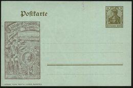Leipzig 1909 PP 3 PF Germania, Braun: 500 Jährige Jubelfeier Der Universität 1409 - 1909 (Studenten In Uniform U. Hohen  - Stamps