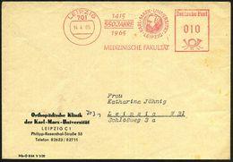 701 LEIPZIG/ 1415/ 550 JAHRE/ 1965/ KARL-MARX-UNIVERSITÄT/ MEDIZIN.FAKULTÄT 1965 (14.4.) Jubil.-AFS (Marx-Kopf) Dienst-B - Stamps