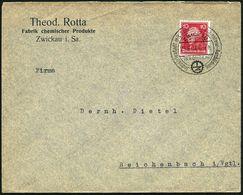 ZWICKAU/ (SACHSEN)/ Jndustriestadt Mit Schule Für Jngenieur-Ausbildung 1927 (29.6.) HWSt = Zahnrad-Logo: I Z , Firmen-Bf - Stamps