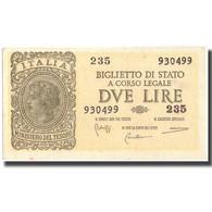 Billet, Italie, 2 Lire, 1944, 1944-11-23, KM:30b, SPL - [ 1] …-1946 : Koninkrijk