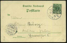 BERLIN,S.O./ 33/ GEWERBE-/ AUSSTELLUNG/ ** 1896 (15.7.) SSt Auf Color-Litho-Ak.: BERLINER GEWERBE-AUSSTELLUNG, Alpen-Pan - Weltausstellung