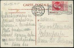 BELGIEN 1910 (22.8.) MWSt.: BRUSSEL/1/BRUXELLES/..BRUXELLES-EXPOSITION = Weltausstellung Klar Auf S/w.-Expo-Ak.: Ruines  - Weltausstellung