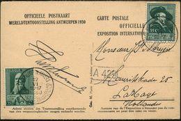 BELGIEN 1930 (12.6.) SSt.: ANTWERPEN - ANVERS/ ..EXPOSITION INTERNATIONALE 2x Auf Passender Foto-Sonder-Kt.: EXPO 1930 ( - Weltausstellung