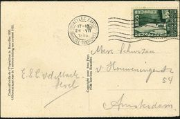 BELGIEN 1935 (24.7.) MaWellenSt.: BRUXELLES EXPOS./ BRUSSEL TENTOONSTELLING (7 Wellen Rechts) Auf EF 35 F. Expos.Unniv.  - Weltausstellung