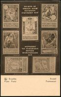 BELGIEN 1936 35 C. Sonder-BiP: Postmuseum Mit 7 Alternativ-Entwürfen Der Expo-Marken Von 1897 (2x St.Michael-Motive, Löw - Weltausstellung