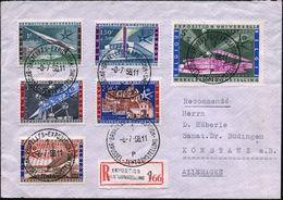 BELGIEN 1958 (20.6.) Expo Brüssel, Kompl.Satz + Mehrfach SSt: BRUXELLES - EXPOSITION/1.. + Sonder-RZ: EXPOSITION/ TENTOO - Weltausstellung
