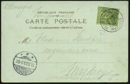 FRANKREICH 1900 (9.9.) Seltener 2K-SSt: PARIS EXPOSITION/ I N V A L I D E S Klar Auf Color-Litho-Ak: Expo 1900 Pavillon  - Weltausstellung