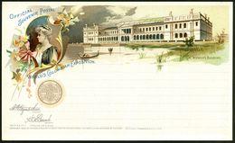 U.S.A. 1893 PP 1 C. Grant, Schw.: WORLD'S COLUMBIAN EXPOSITION (Weltausstellung Zum Columbus-Jubiläum) = THE WOMAN's BUI - Weltausstellung