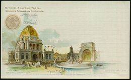 U.S.A. 1893 PP 1 C. Grant, Schw.: WORLD'S COLUMBIAN EXPOSITION.. Administration Building (Verwaltungsgebäude, Brunnen) U - Weltausstellung