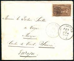 U.S.A. 1893 (Febr.) 5 C. Columbus-Expo, EF = Columbus Vor Isabella I. , Sauber Gest. Kleiner Übersee-Bf. In Die Schweiz  - Weltausstellung