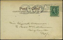 U.S.A. 1904 (6.7.) MWSt.: ST. LOUIS, MO/WORLD'S/FAIR/ ST. LOUIS + Ma.AS: BINGHAMPTON/N.Y./ RECEIVED Zusammen Auf Bedarfs - Weltausstellung