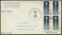 """U.S.A. 1962 (9.8.) 4 C. """"Seattle World's Fair 1962"""", Reine MeF:  Turm """"Space Needle"""" U. Einschienenbahn , Klar Gest. Übe - Weltausstellung"""