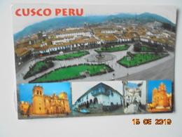 Cusco Peru. Plaza De Armas De La Ciudad. W144 Postmarked 2001 - 16.8 X 11.9 Cm. - Peru
