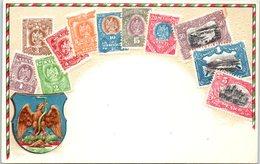 TIMBRES - Carte Gaufrée - MEXIQUE - Stamps (pictures)