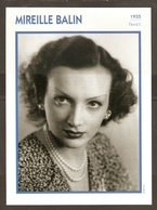 PORTRAIT DE STAR 1935 FRANCE - ACTRICE MIREILLE BALIN - ACTRESS CINEMA FILM PHOTO - Fotos