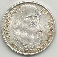 Leonardo Da Vinci, Arte, Scienza, Tecnica, Mist. Gr. 7, Cm. 2,8. - Italia
