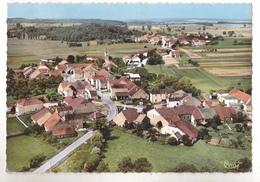 ABONCOURT  EN HAUTE  SAONE  LE VILLAGE  VUE GENERALE AERIENNE CARTE  CIRCULEE - France