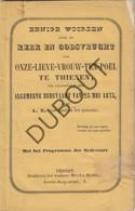 TIENEN OLV Ten Poel 1873 Druk: Merckx-Mertens Tienen - 48 Pag (N472) - Books, Magazines, Comics