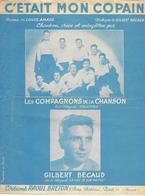 C'était Mon Copain - Gilbert Bécaud, Compagnons  (p: Louis Amade - M: Gilbert Bécaud), 1953 - Music & Instruments