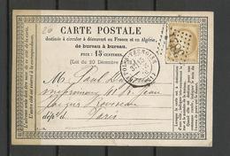 France  Carte Postale  Avec Timbre  Seul YT 55 De Saint Pol Sur Ternoise à Paris   Ref 5 - Marcophilie (Lettres)