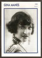 PORTRAIT DE STAR 1935 FRANCE - ACTRICE GINA MANES - ACTRESS CINEMA FILM PHOTO - Fotos