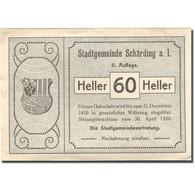 Billet, Autriche, Schärding, 60 Heller, Pont 1920-12-31, SPL Mehl:FS 951IIa - Austria